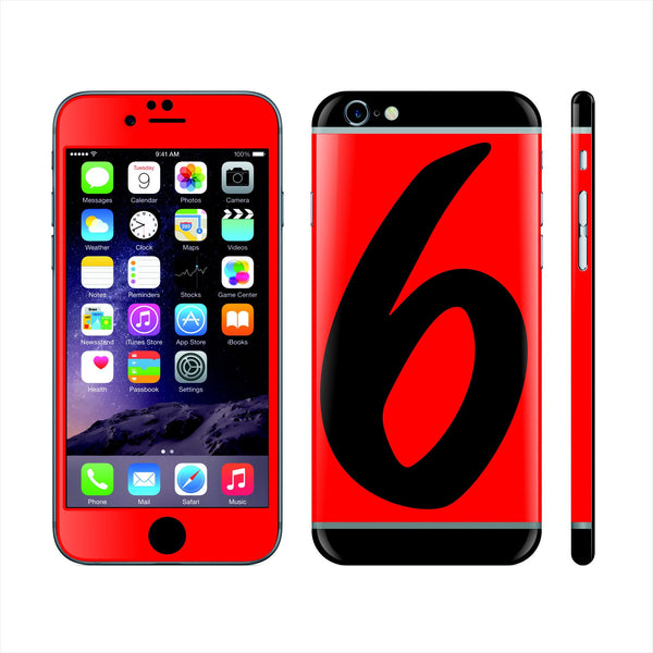 iPhone 6S Custom Colorful Design Edition  '6' 014 Skin Wrap Sticker Cover Decal Protector by EasySkinz