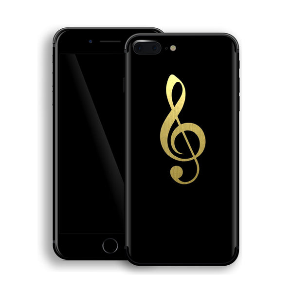 iPhone 8 Plus Music Symbol Custom Design Matt Black Skin Wrap Decal Protector Cover | EasySkinz