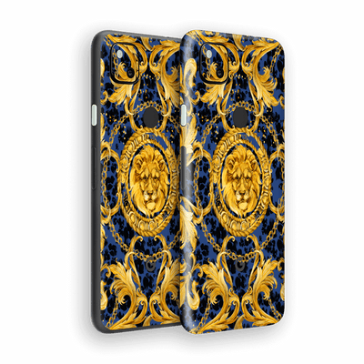 Google Pixel 4a Print Printed Custom SIGNATURE Golden Luxuriousness Skin Wrap Sticker Decal Cover Protector by EasySkinz