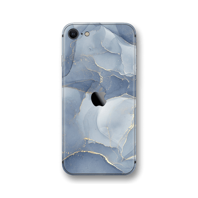 iPhone SE (2020) SIGNATURE AGATE GEODE Steel Blue-Gold Skin, Wrap, Decal, Protector, Cover by EasySkinz | EasySkinz.com