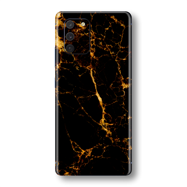 Samsung Galaxy S10 LITE Print Printed Custom SIGNATURE MARBLE - BLACK GOLD Skin Wrap Sticker Decal Cover Protector by EasySkinz