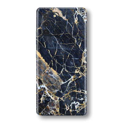 Samsung Galaxy S10 LITE Print Printed Custom SIGNATURE MARBLE - BLUE GOLD Skin Wrap Sticker Decal Cover Protector by EasySkinz
