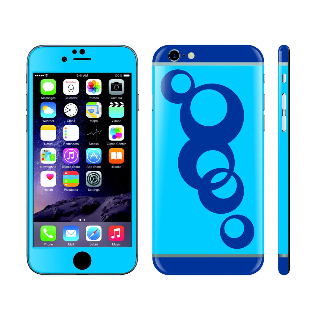 iPhone 6 Custom Colorful Design Edition  Abstract Circles 016 Skin Wrap Sticker Cover Decal Protector by EasySkinz