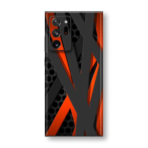 Samsung Galaxy NOTE 20 ULTRA Print Custom SIGNATURE Black-Red FIBRE Skin Wrap Decal by EasySkinz