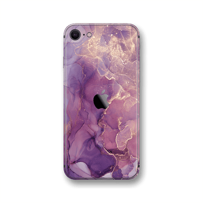 iPhone SE (2020) SIGNATURE AGATE GEODE Purple-Gold Skin, Wrap, Decal, Protector, Cover by EasySkinz | EasySkinz.com