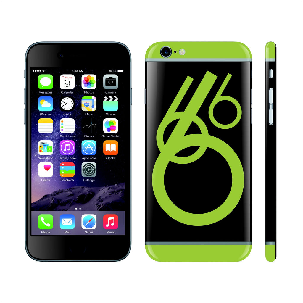 iPhone 6 Custom Colorful Design Edition  Abstract '6' 017 Skin Wrap Sticker Cover Decal Protector by EasySkinz