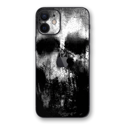iPhone 12 mini SIGNATURE Horror Black & White SKULL Skin, Wrap, Decal, Protector, Cover by EasySkinz | EasySkinz.com