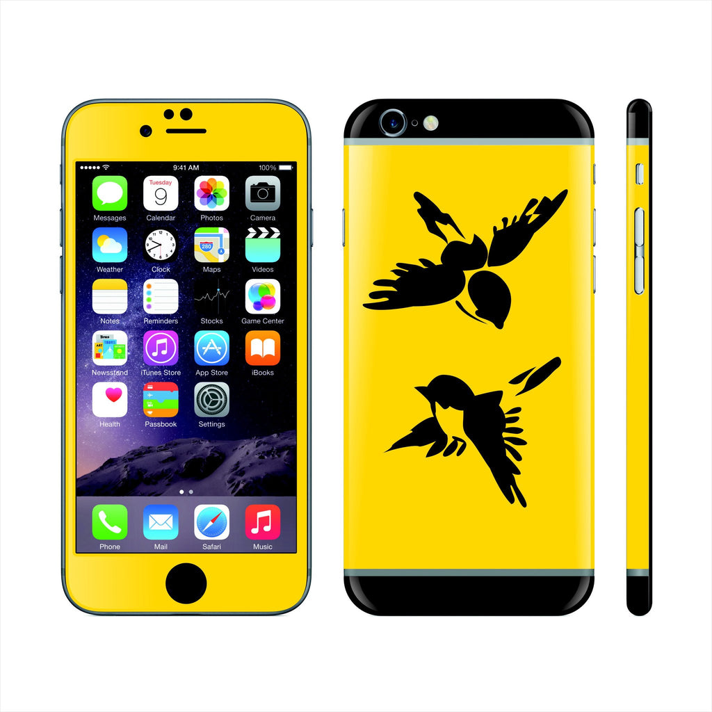 iPhone 6S PLUS Custom Colorful Design Edition  Birds 018 Skin Wrap Sticker Cover Decal Protector by EasySkinz