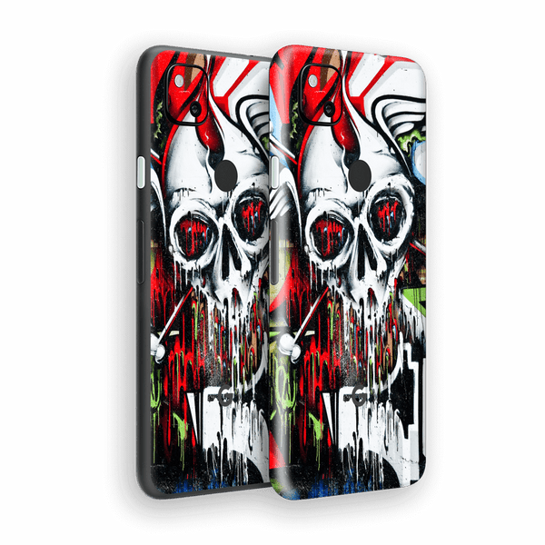 Google Pixel 4a Print Printed Custom SIGNATURE Graffiti Skull Skin Wrap Sticker Decal Cover Protector by EasySkinz