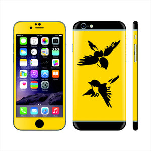 iPhone 6S Custom Colorful Design Edition  Birds 018 Skin Wrap Sticker Cover Decal Protector by EasySkinz