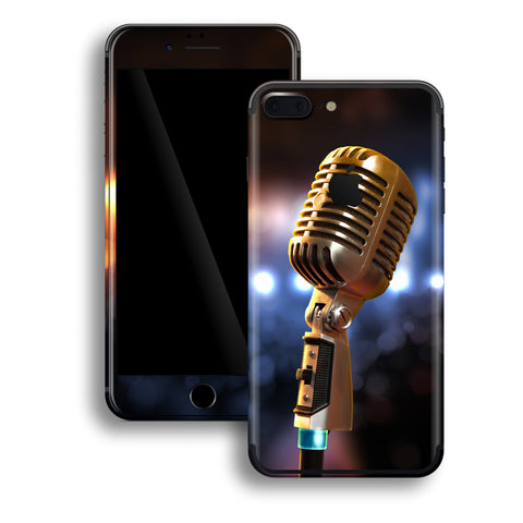 iPhone 7 PLUS Print Custom Signature Microphone Skin Wrap Decal by EasySkinz