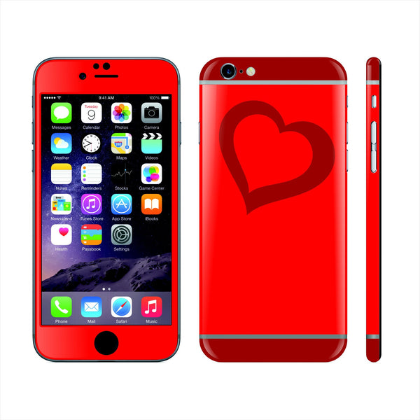 iPhone 6 Plus Custom Colorful Design Edition  Love Heart 019 Skin Wrap Sticker Cover Decal Protector by EasySkinz