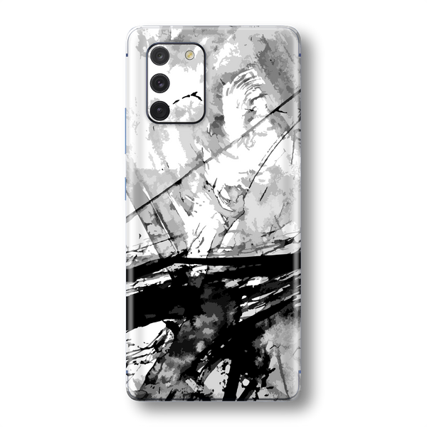 Samsung Galaxy S10 LITE Print Printed Custom SIGNATURE ABSTRACT Black & White Skin Wrap Sticker Decal Cover Protector by EasySkinz