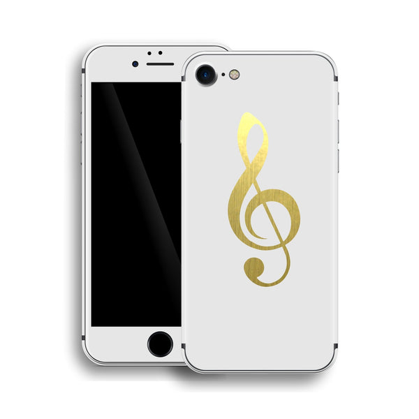 iPhone 8 Music Custom Design Matt White Skin Wrap Decal Protector Cover | EasySkinz