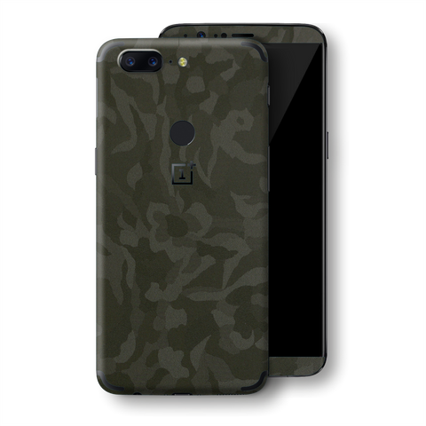 OnePlus 5T Luxuria 3D Textured GREEN CAMO Camouflage Skin, Decal, Wrap, Protector, Cover by EasySkinz | EasySkinz.com