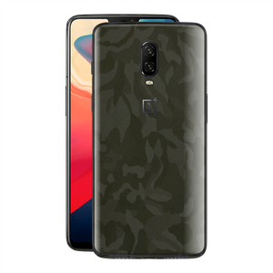 OnePlus 6T Green 3D Camo Camouflage Textured Skin Wrap Decal 3M by EasySkinz