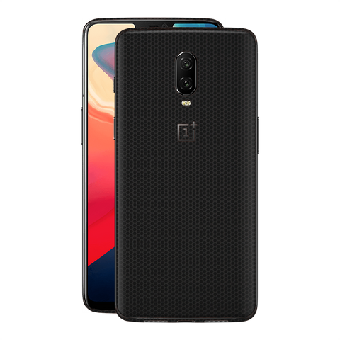 OnePlus 6T Black Matrix Textured Skin Wrap Decal 3M by EasySkinz