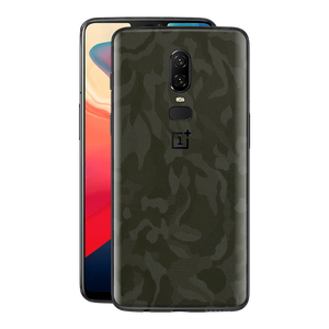 OnePlus 6 Green 3D Camo Camouflage Textured Skin Wrap Decal 3M by EasySkinz