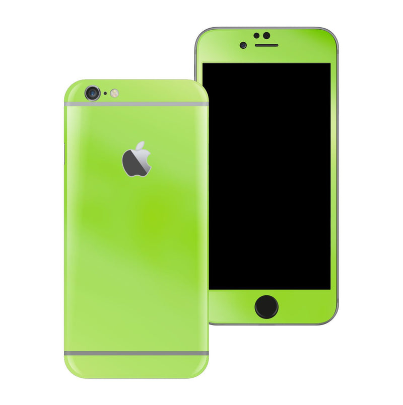iPhone 6S PLUS Apple Green Pearl Gloss Finish Skin Wrap Sticker Cover Protector Decal by EasySkinz
