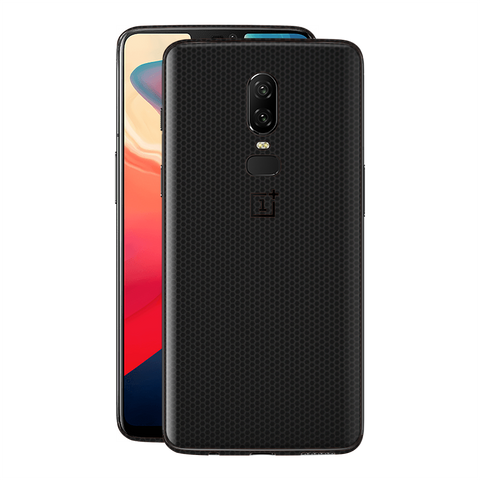 OnePlus 6 Black Matrix Textured Skin Wrap Decal 3M by EasySkinz