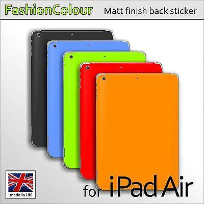 For iPad Air COLORFUL MATT Finish BACK Cover Vinyl Sticker Skin Decal Wrap