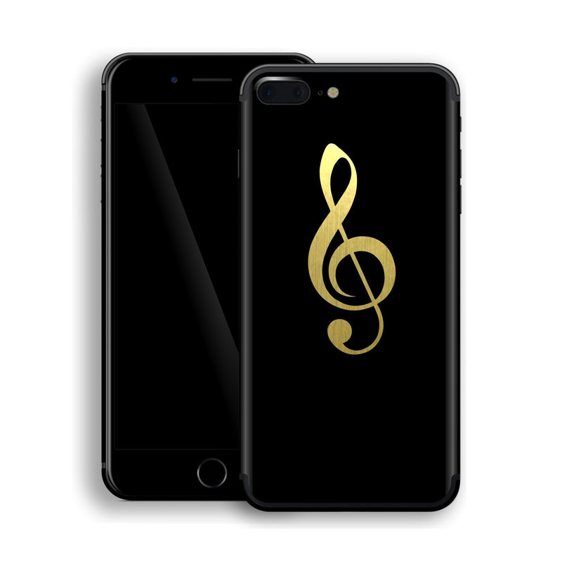 iPhone 7 Plus Music Symbol Custom Design Matt Black Skin Wrap Decal Protector Cover | EasySkinz