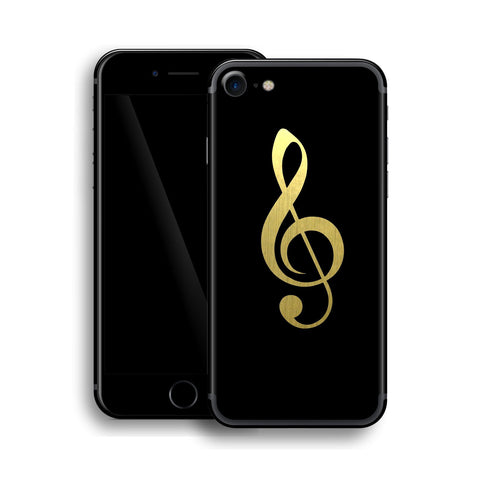 iPhone 7 Music Custom Design Matt Black Skin Wrap Decal Protector Cover | EasySkinz