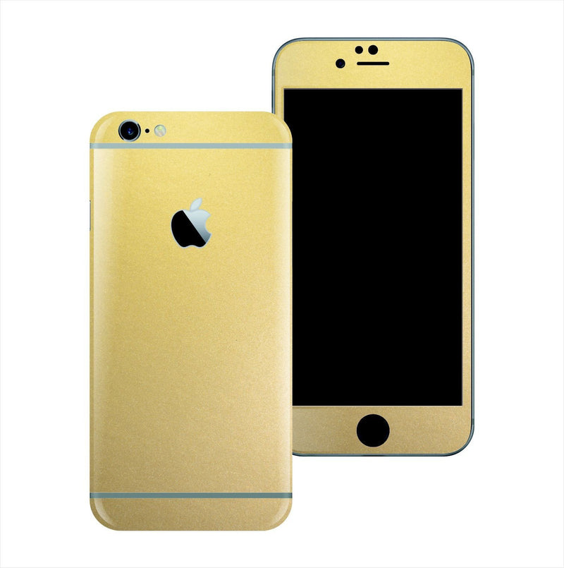 iPhone 6S Matt Matte GOLD Metallic Skin Wrap Sticker Cover Protector Decal by EasySkinz