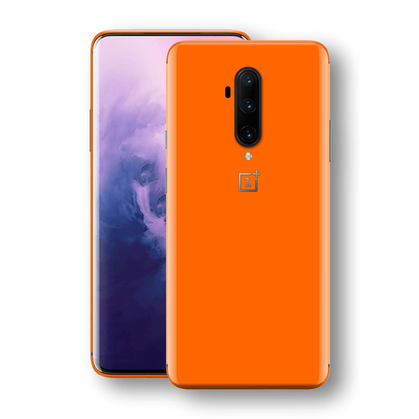 OnePlus 7T PRO Orange Glossy Gloss Finish Skin, Decal, Wrap, Protector, Cover by EasySkinz | EasySkinz.com