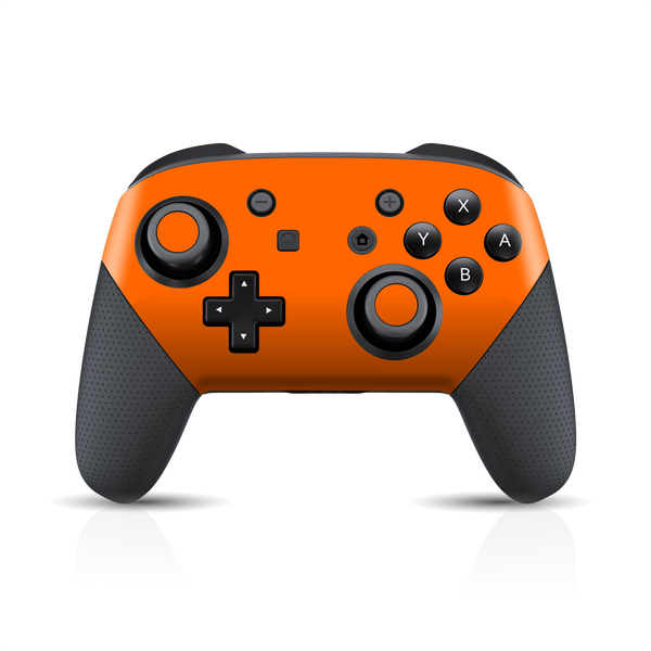 Nintendo Switch Pro CONTROLLER Matt Matte ORANGE Skin Wrap Sticker Decal Cover Protector by EasySkinz