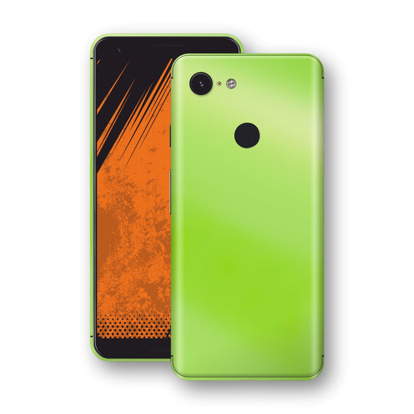 Google Pixel 3a XL Apple Green Pearl Gloss Finish Skin Wrap Decal Cover by EasySkinz