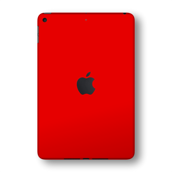iPad MINI 5 (5th Generation 2019) Glossy Bright Red Skin Wrap Sticker Decal Cover Protector by EasySkinz
