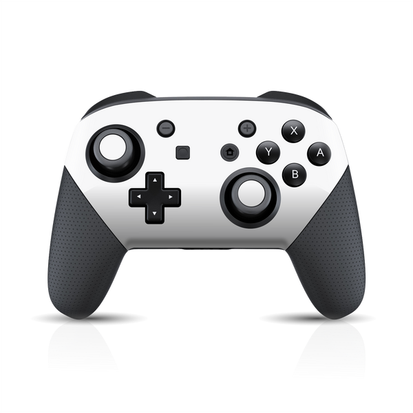 Nintendo Switch Pro CONTROLLER Glossy White Skin Wrap Sticker Decal Cover Protector by EasySkinz