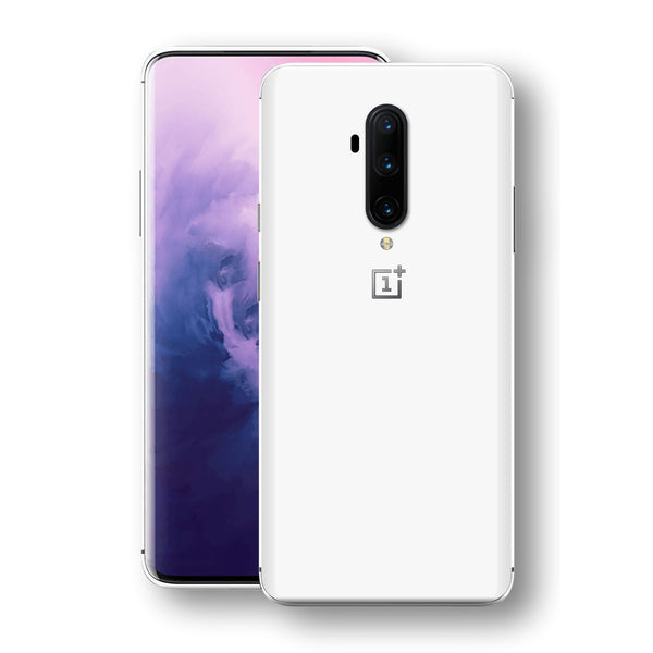 OnePlus 7T PRO White Glossy Gloss Finish Skin, Decal, Wrap, Protector, Cover by EasySkinz | EasySkinz.com