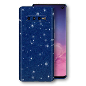 Samsung Galaxy S10 Diamond Blue Shimmering, Sparkling, Glitter Skin, Decal, Wrap, Protector, Cover by EasySkinz | EasySkinz.com