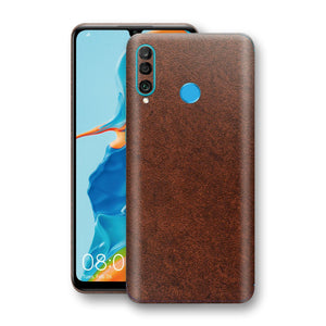 Huawei P30 LITE BROWN Leather Skin Wrap Decal Protector | EasySkinz
