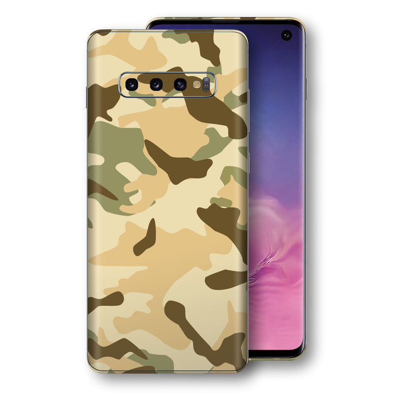 Samsung Galaxy S10 Print Custom Signature Camouflage Desert Skin Wrap Decal by EasySkinz