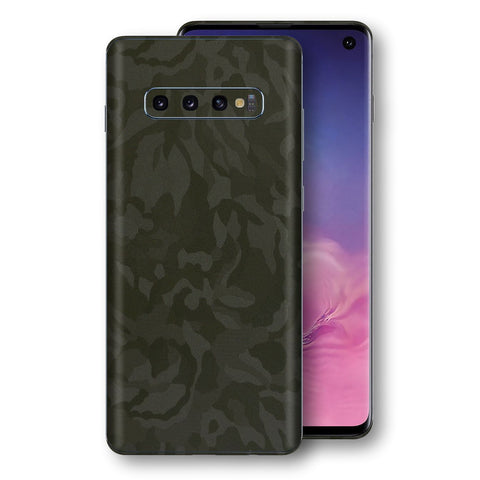 Samsung Galaxy S10 Green Camo Camouflage 3D Textured Skin Wrap Decal Protector | EasySkinz