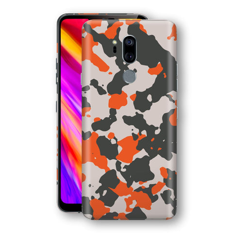LG G7 ThinQ Camouflage Orange Skin, Decal, Wrap, Protector, Cover by EasySkinz | EasySkinz.com