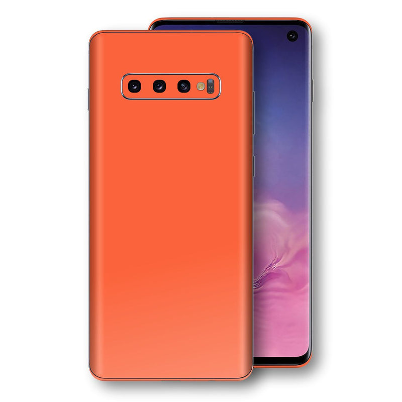 Samsung Galaxy S10 Glossy CORAL Skin, Decal, Wrap, Protector, Cover by EasySkinz | EasySkinz.com