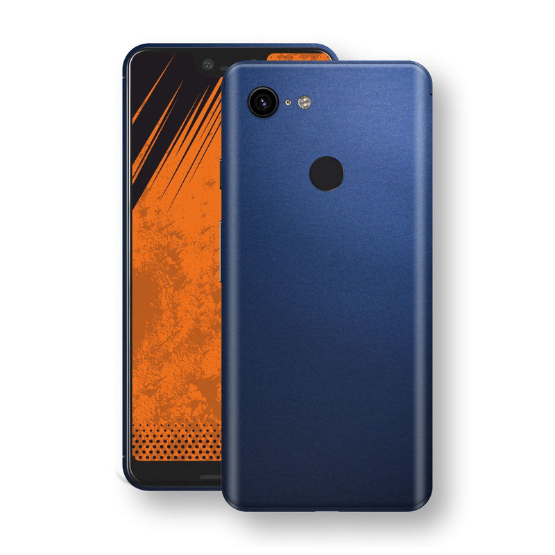 Google Pixel 3 XL Deep Ocean Blue Matt Skin Wrap Decal Protector | EasySkinz