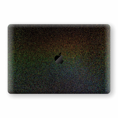 "MacBook Pro 13"" (2020) GALAXY Black Milky Way Rainbow Sparkling Metallic Skin Wrap Sticker Decal Cover Protector by EasySkinz"