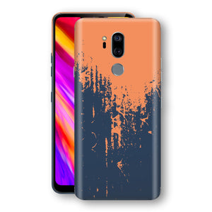 LG G7 ThinQ Print Custom Signature Navy Orange Sprayed Paint Skin Wrap Decal by EasySkinz