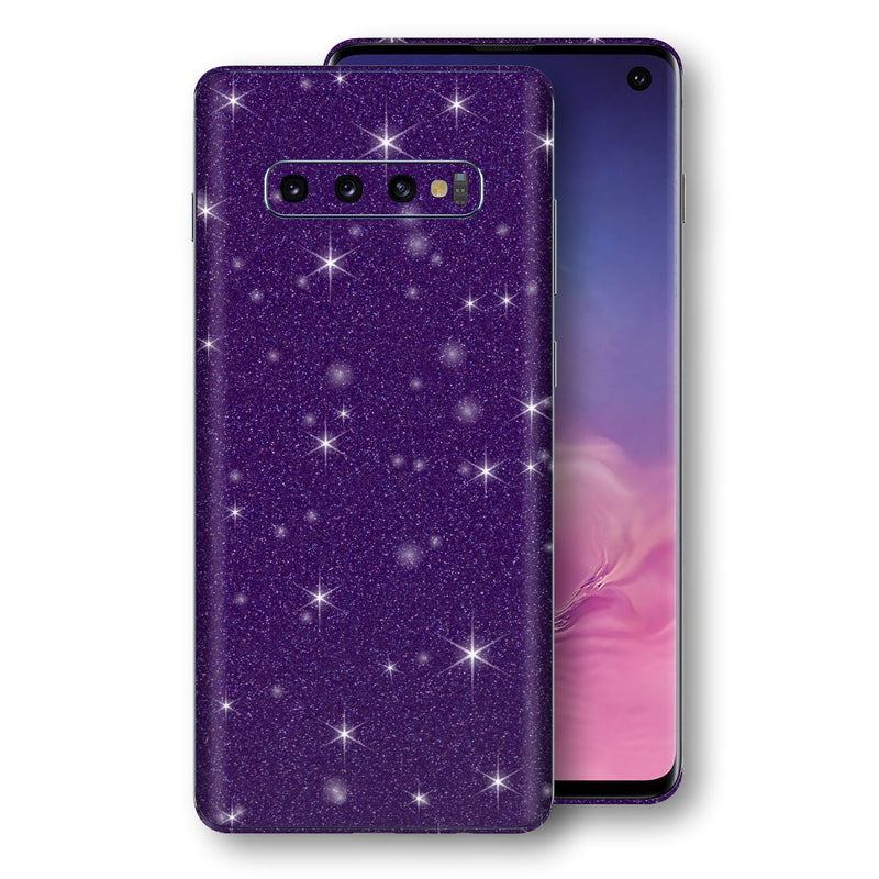 Samsung Galaxy S10 Diamond Purple Shimmering, Sparkling, Glitter Skin, Decal, Wrap, Protector, Cover by EasySkinz | EasySkinz.com