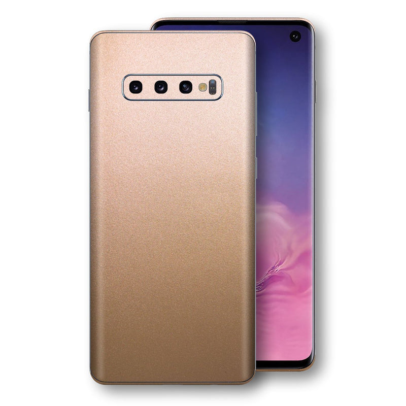 Samsung Galaxy S10 Luxuria Rose Gold Metallic Skin Wrap Decal Protector | EasySkinz