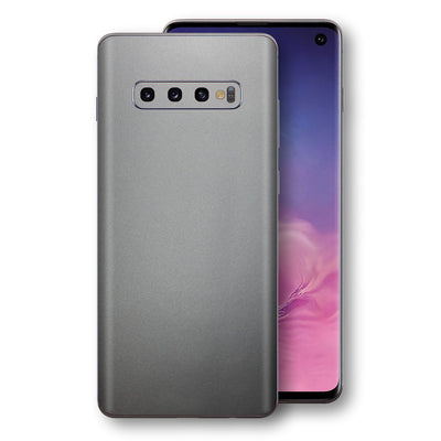 Samsung Galaxy S10 Space Grey Matt Metallic Skin, Decal, Wrap, Protector, Cover by EasySkinz | EasySkinz.com