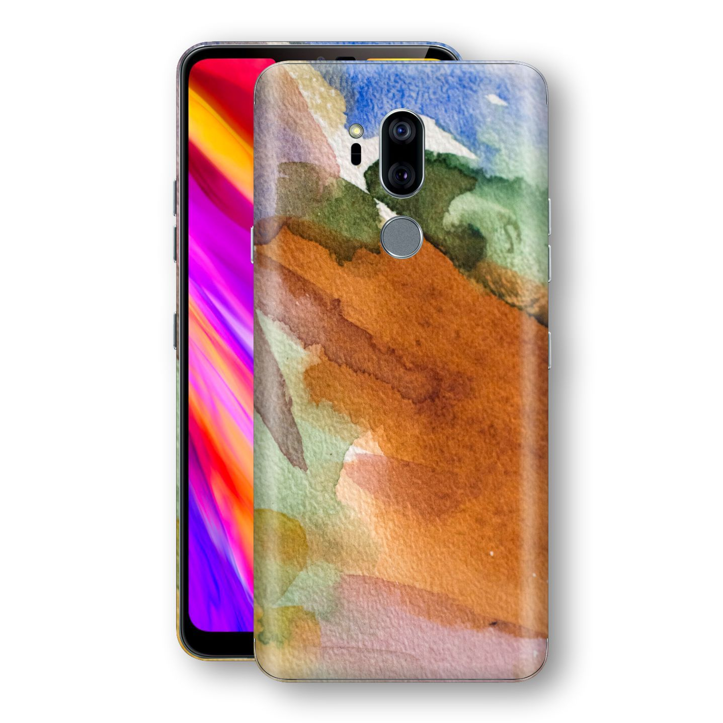 LG G7 ThinQ Print Custom Signature Warm Watercolour Pastel Skin Wrap Decal by EasySkinz