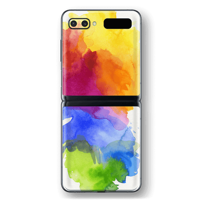 Samsung Galaxy Z Flip Print Printed Custom SIGNATURE AQUARELLE Skin Wrap Sticker Decal Cover Protector by EasySkinz