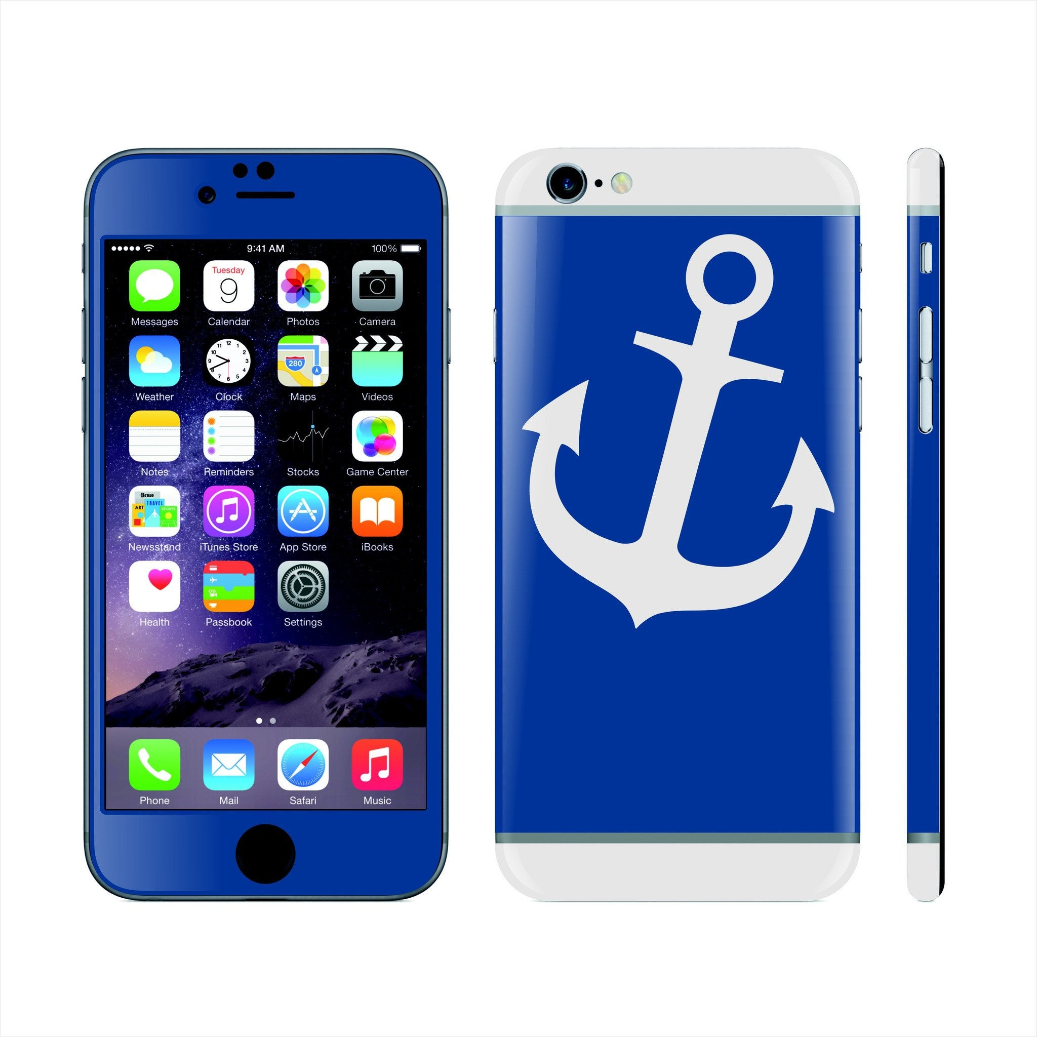 iPhone 6S Custom Colorful Design Edition  Anchor 020 Skin Wrap Sticker Cover Decal Protector by EasySkinz