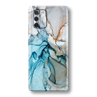 Samsung Galaxy S10 LITE Print Printed Custom SIGNATURE MARBLE TURQUOISE Skin Wrap Sticker Decal Cover Protector by EasySkinz
